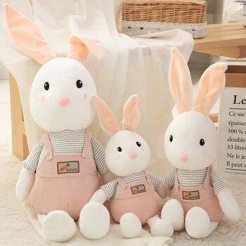 lucky boy sunday soft rabbit plush toy stuffed soft rabbit doll wear cloth baby kids toys birthday christmas gift for girls kids stuffed toy