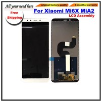 LCD Display Touch Screen Digitizer Assembly For Xiaomi Mi 6X Mi6X Mi A2 MiA2 black white