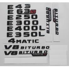цена на Gloss Black For Mercedes Benz W212 W213 E43 E63 E55 AMG E200 E220 E250 E300 E320 E350 E400 4MATIC Trunk Rear Star Emblems Badges
