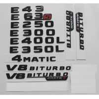 Nero lucido Per Mercedes Benz W212 W213 E43 E63 E55 AMG E200 E220 E250 E300 E320 E350 E400 4 MATIC tronco Posteriore Star Emblemi Distintivi e Simboli