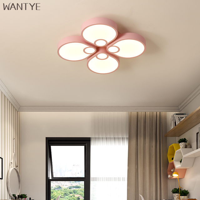 Creative Design Kids Ceiling Lights Bedroom Study room White Pink Blue optional LED Ceiling Lamp Dimmable with Remote Control