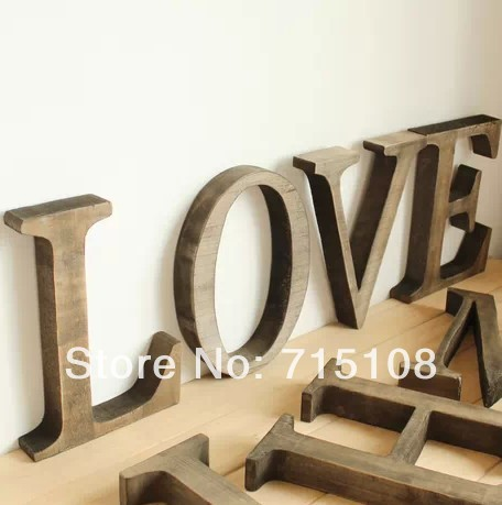 FREE STANDING LARGE WOODEN ENGRAVED letters large 20 cm price is per letter