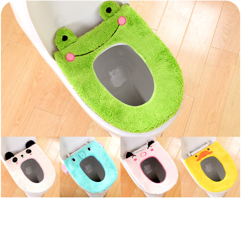 1PC New Soft Warm Long Plush Toilet Seat Cover Mat Pad Lid Comfortable Washab