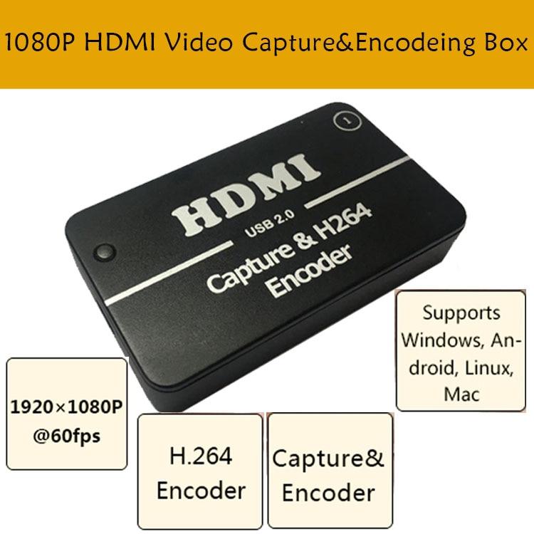 HDMI Video Capture Card USB 2 0 Port HD 1 Way HDMI 1080P Mini Video Capture