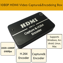 HDMI Video Capture Card USB 2.0 Port HD 1 Way HDMI 1080P Mini Video Capture Acquisition Card for Computer Windows XP