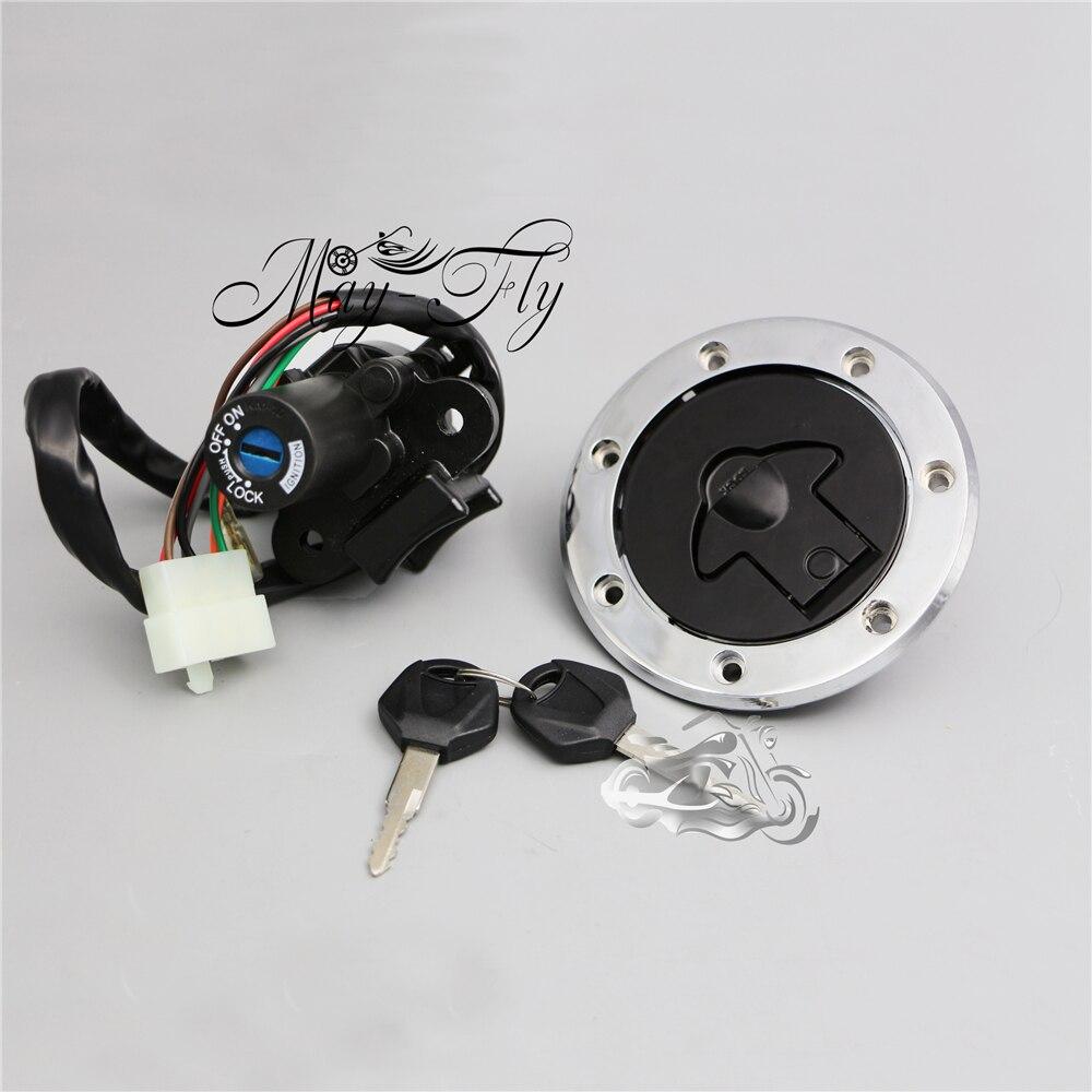 Ignition Switch Lock Fuel Gas Cap Key Set For Kawasaki Ninja ZX6R ZX7R ZX-9R ZZR400 ZZR600 ZXR400 ZXR750 Motorcycle