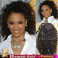 100% реальные Человеческие волосы Обернуть вокруг хвост 140 г Клип в натуральные волосы афро кудрявый вьющиеся виргинский Бразильский наращивания волос для женщина