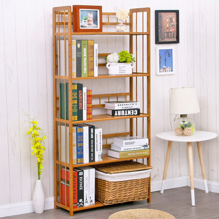 Bookcases Living Room Furniture Home Bamboo Bookshelf Minimalist Modern Quality Display Book Stand Rack Wholesale New In From