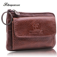Genuine Leather Wallet Women Card Holder Small Wallets Coin Purse Female Multi Function Slim Wallet Key