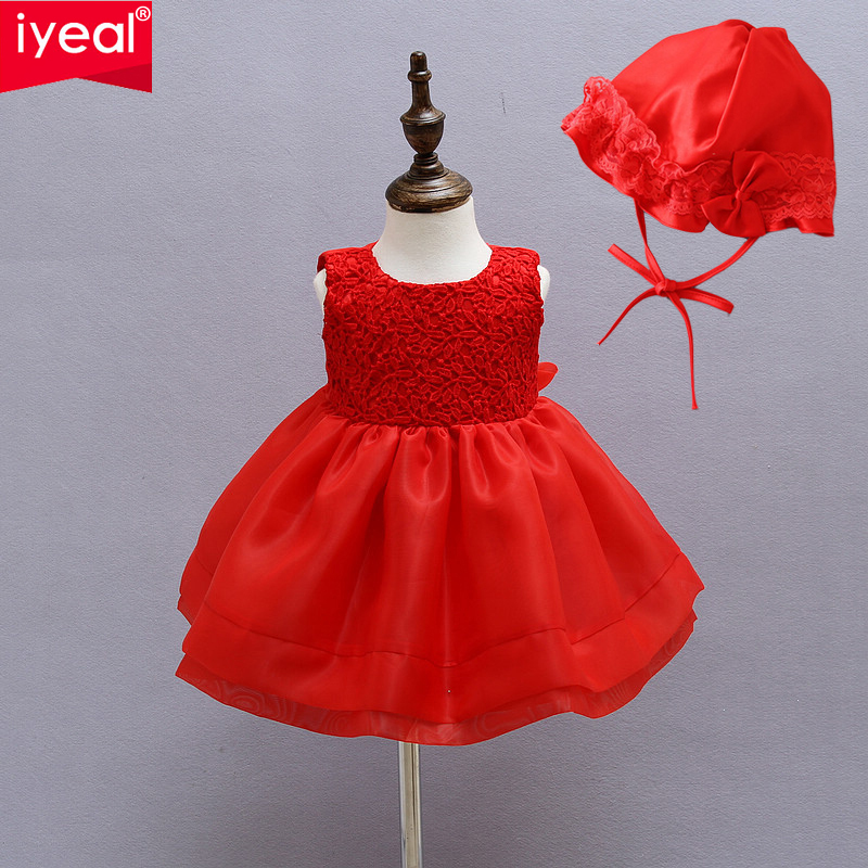 IYEAL Kids Newborn Christmas Baby Girls Toddler Princess Pageant Party Tutu Bow Infant D ...