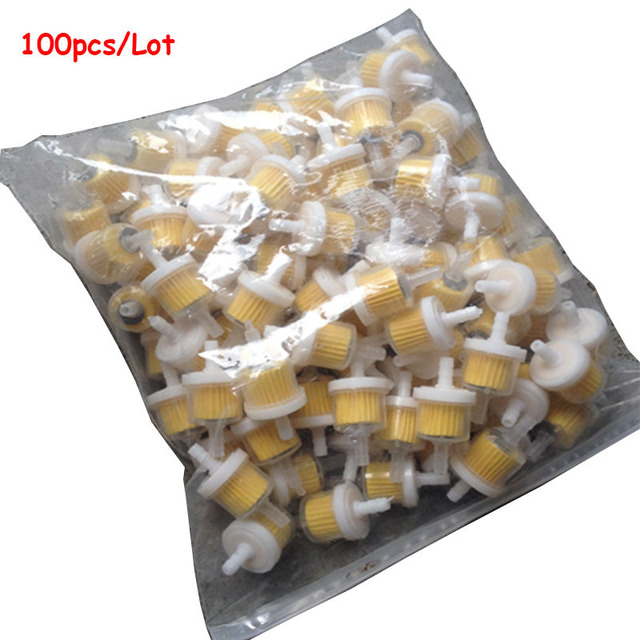 100pcs/lot universal motorcycle gas fuel filters small engine fram plastic inline  fuel filters fuel
