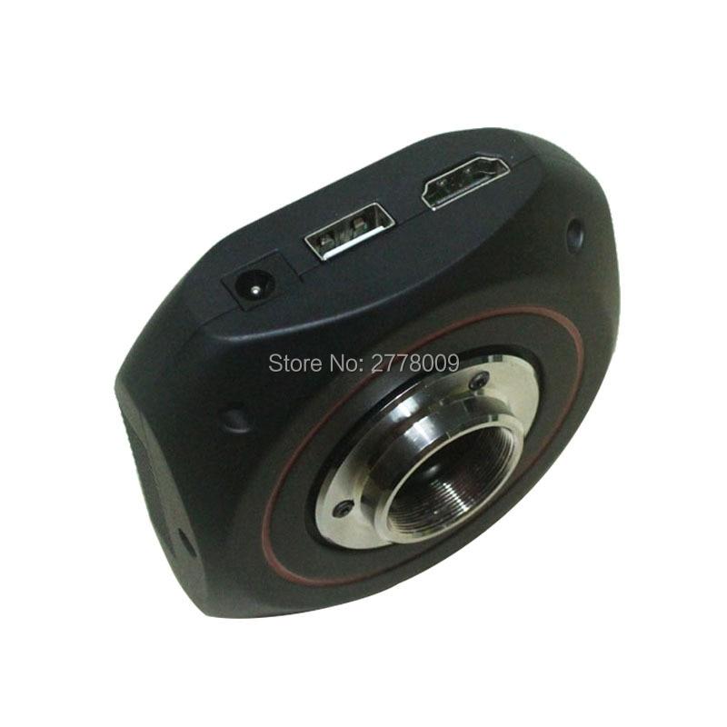 Aletler'ten Mikroskoplar'de 1080 P 60 çerçeveleri 1/2 inç HDMI Sanayi Video Mikroskop Ölçüm Kamera SD Kart Depolama Video Geçti Eğrisi Açı Ölçümü title=