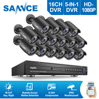 ANNKE 16CH 2MP 1080P HDMI DVR 2TB HDD Outdoor Home Video Security Camera System