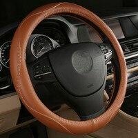 Black Beige Brown Gray Car Steering Wheel Cover For Volvo S80L S60L XC60 V60 V40 V90