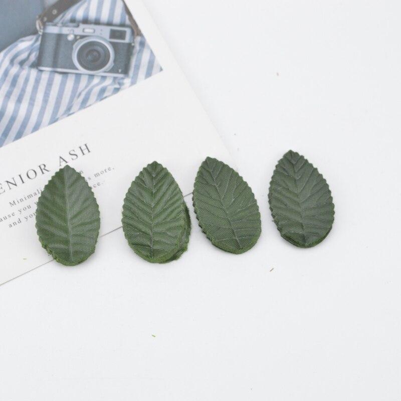 200pcs Artificial Plants Silk Leaves New Year Christmas Home Decor Diy Garland Scrapbook Decorative Flowers Wreaths Fake Leaf