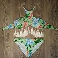 Vessos Bikinis Set Женщины Кисти Материнства Цветочный Пляж Купальник Push Up Biquini