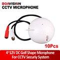 10 шт./лот Аудио pick up CCTV Микрофон/Микрофон Аудио Seurity Микрофон Для Камеры