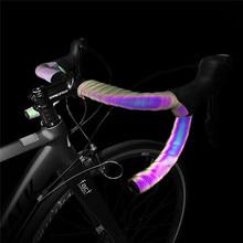 PU + EVA Cinta para manillar de bicicleta, banda reflectante de atenuación, cinturón con degradado que cambia de Color