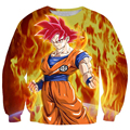 Men Women Long Sleeve Outerwear Handsome Dragon Ball Goku 3D Sweatshirt Male Female Anime Sweatshirts Crewneck Pullovers