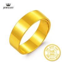 BBB 24 K из чистого золота кольца женские пары мужских жениться на кольцо широкий гладкой Свадьба жениться получили занимается широкое кольцо