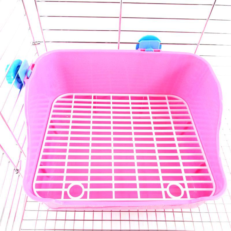 Pet Rabbit Guinea Pig Chinchillas Toilet Plastic Multicolor Rabbit Cleaning Rabbit Toilet Buckle Design Small Pet Accessories