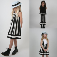 Girls dress 2019 Summer Girls Striped Dress Black White Striped Dress kids dresses for girls baby girl clothes 2 7Y