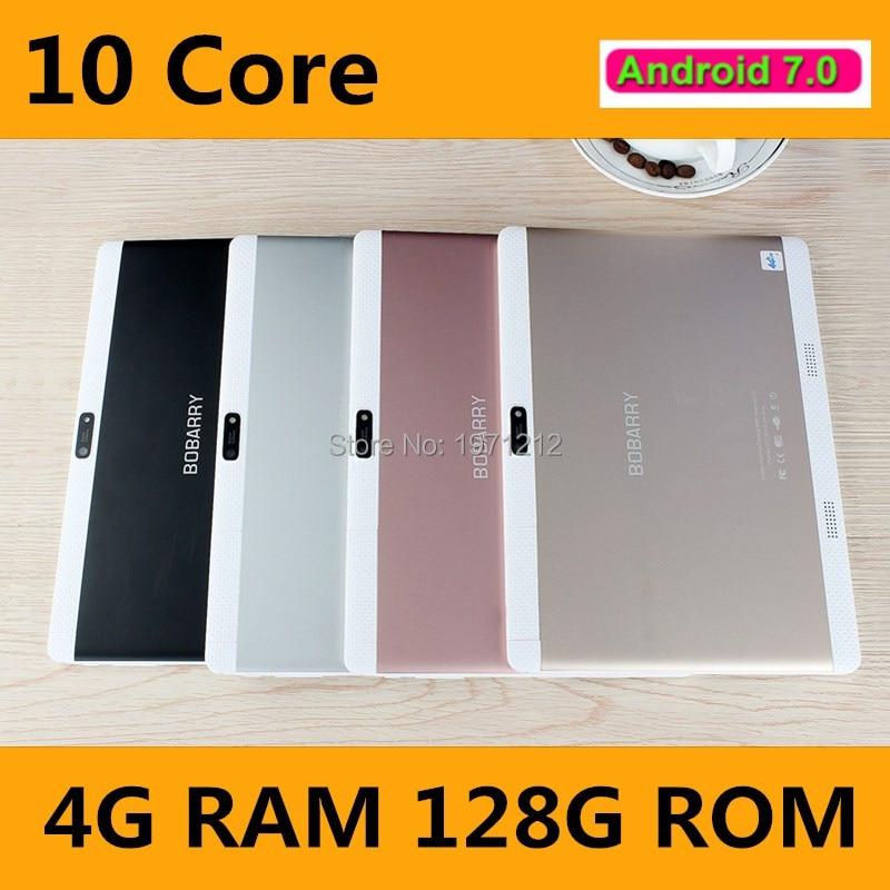 10,1 zoll Deca Core 3G 4G Tablet Android 7.0 RAM 4 GB ROM 128 GB 8.0MP Dual-sim-karte Bluetooth GPS Tabletten 10,1 zoll 4G tablet pc