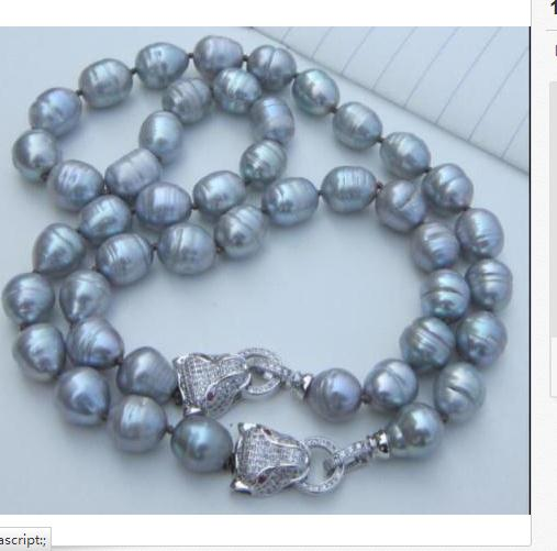 set of 12-13mm south sea silver grey pearl necklace18 &bracelet 7.5-8set of 12-13mm south sea silver grey pearl necklace18 &bracelet 7.5-8