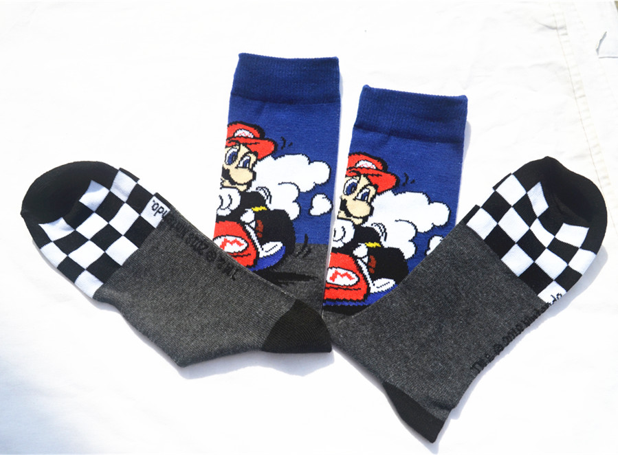 Game Super Mario Socks Street Cosplay Cotton Comics Women Men Donkey Kong Mario Bros Socks Party Novelty Funny Party Halloween Underwear & Sleepwears