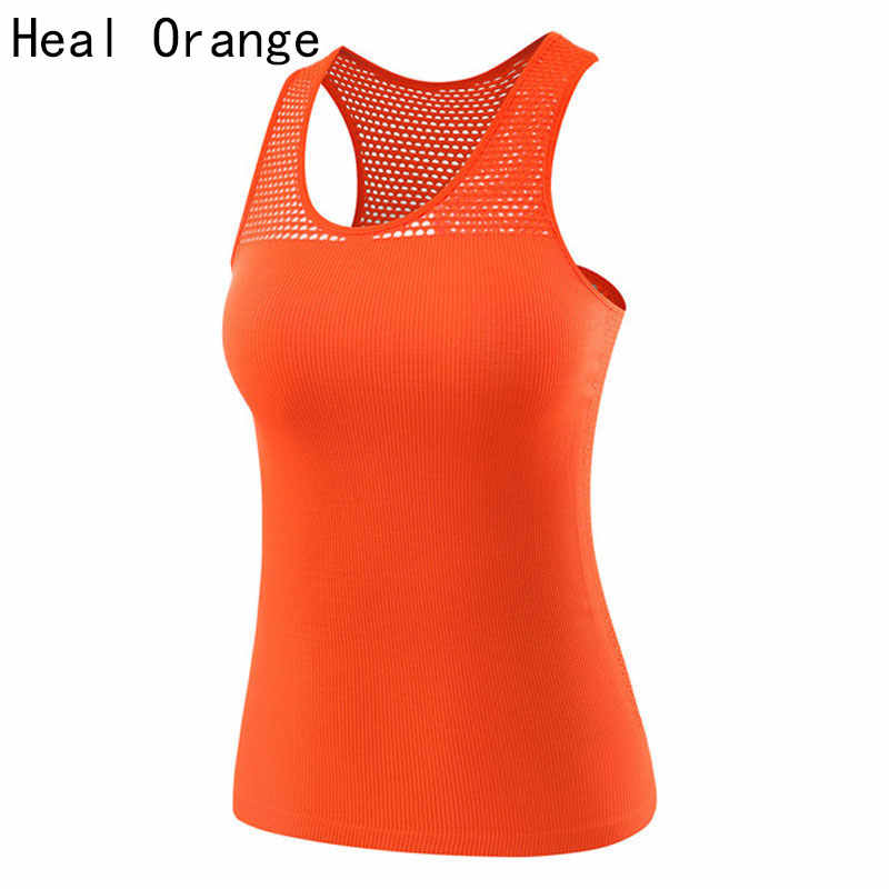 HEAL ORANGE Sport Vest Women Tank Top Gym Sleeveless Sport Shirt Sports Top Singlets Women Running Wear Clothing Running Vest