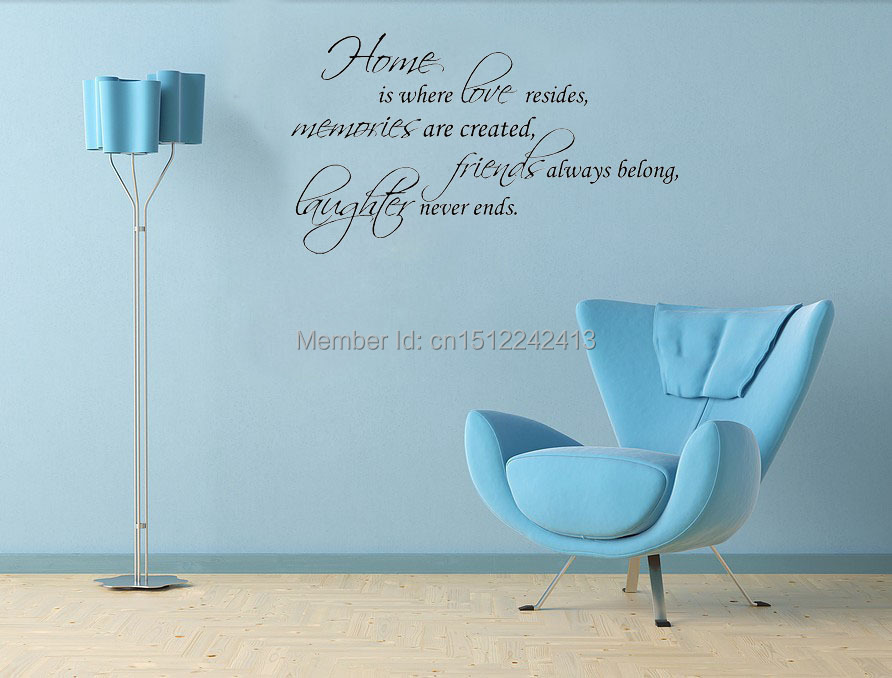 CaCar Wall Decal Quote Sticker Vinyl Lettering Home Is