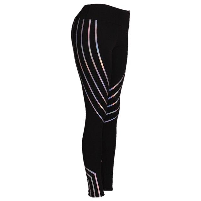 2019 Fashion Women Leggings Slim High Waist Elasticity Leggings Fitness Printing leggins  Breathable Woman Pants Leggings 4