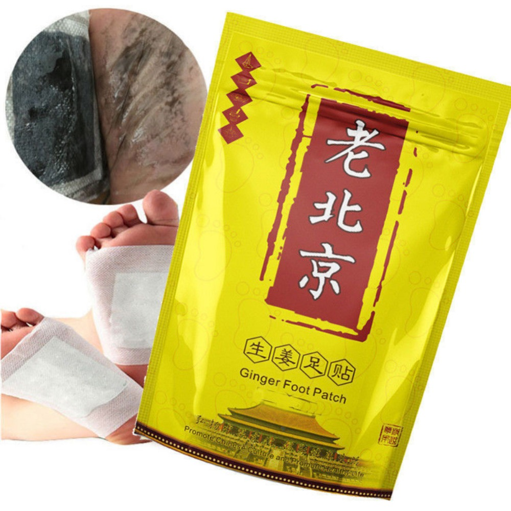 50pcs Old Beijing Ginger Foot Patch Revitalizing Detox Organic Foot Mask Cleaning Lose Weight Improve Sleep Detox Foot Pads