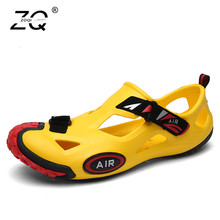 New Summer Beach Shoes Men Outdoor Sandals Men's Hot Aqua shoes Water Slippers Lesiure Platform Sandals And Slippers Big Size 44