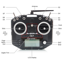 FrSky ACCST Taranis Q X7 QX7 2.4GHz 16CH Transmitter Without Receiver For RC Multicopter frsky horus x10s 16 ch rc transmitter mode 2 mc12plus gimbal aluminum packaging remote control for rc toy vs accst taranis q x7