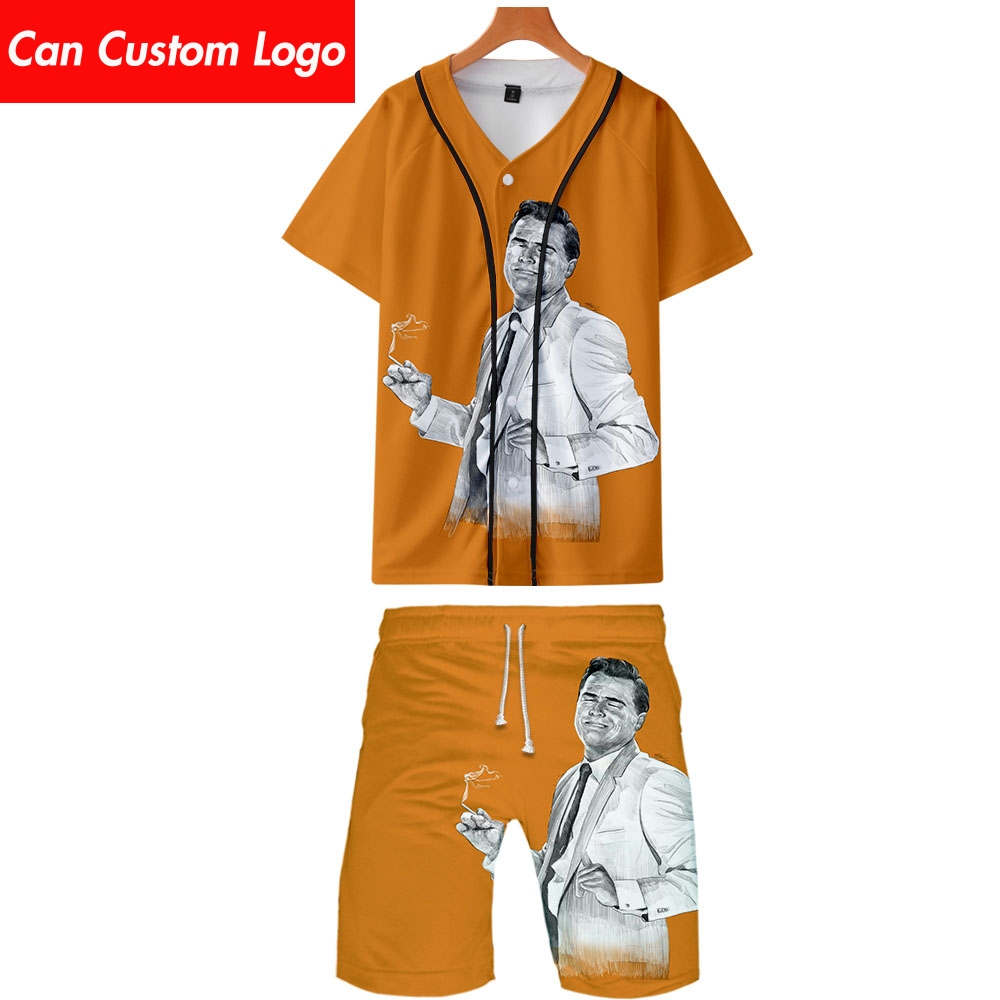 Once Upon A Time In Hollywood Two Piece Set Jackets And Shorts Kpop Fashion New Cool Print Undertale Baseball Jacket Set For Men