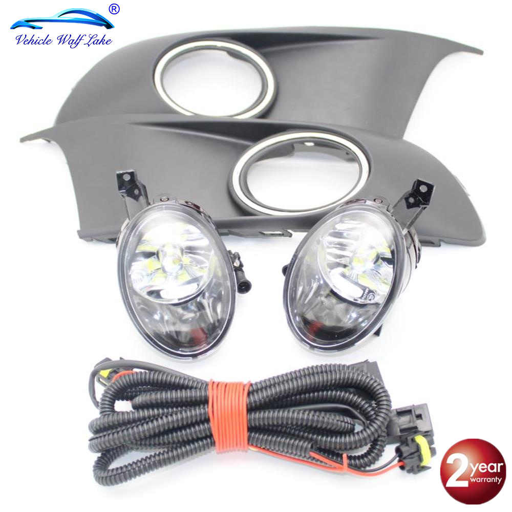 Untuk VW Caddy 2 K Facelift 2011 2012 2013 2014 2015 Car Styling LED Kabut Lampu Lampu Grille Cover wire Harness Assembly