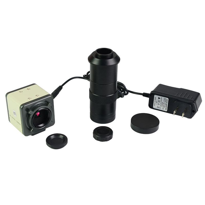 HD CCD 800 Lines C-Mount Digital Microscope Eyepiece AV/BNC Out Put Industrial Camera with 100X Zoom LensHD CCD 800 Lines C-Mount Digital Microscope Eyepiece AV/BNC Out Put Industrial Camera with 100X Zoom Lens