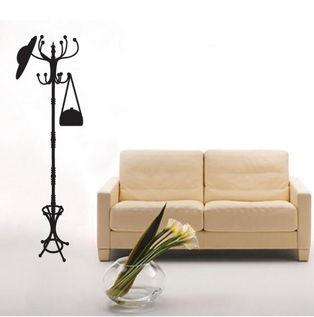 Hanger Coat Stand Clothes Rack Wall Stickers For Living Room Bedroom Magnificent Cloth Stand For Bedroom Decoration