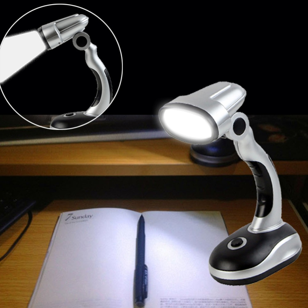 Desk Lamps 2018 Portable Adjustable 12 Led Desk Lamp Light Read Torch Battery Powered Cordless Energy-saving And Environmentally Friendly