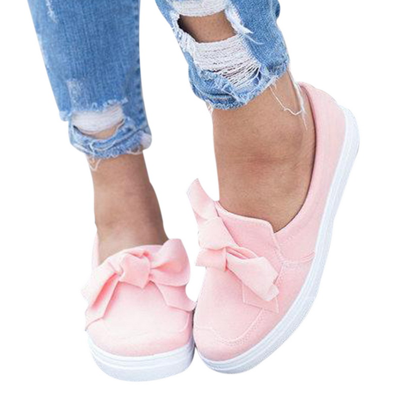 Female Flats Footwear Vulcanized-Shoes Sneakers Ladies Spring Slip-On Suede Comfort Casual title=