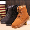 Vintage Men Comfort Suede Leather Lace Up Mid Calf Martin Snow Boots Round Toe Chukka Shoes