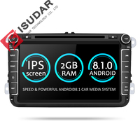 Isudar Two Din Car Multimedia Player Android 8.1 Auto Radio For Skoda/Seat/Volkswagen/VW/Passat b7/POLO/GOLF 5 6 DVD GPS 4 Cores