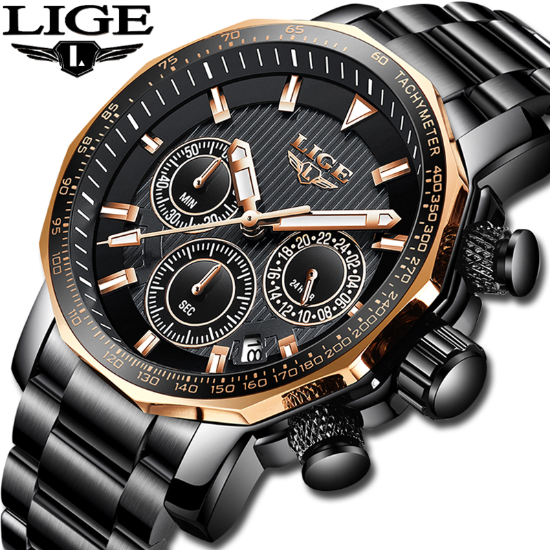 2019 nouveau LIGE hommes montres Top marque de luxe hommes étanche militaire sport montre hommes tout en acier Quartz horloge Relogio Masculino