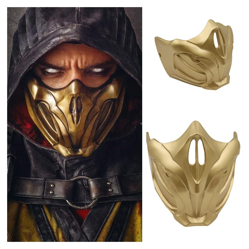 New Top Quality Game Mortal Kombat 11 Cosplay Masks Scorpion Resin