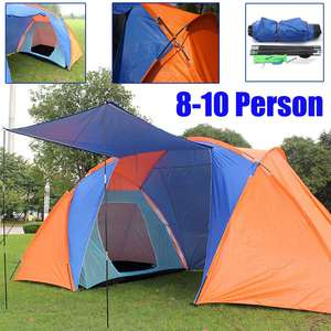 4.2x2.2x1.75m 5-8 pessoa barraca de acampamento cúpula lona 2 quartos 1 vivendo caminhadas caminhadas à prova dtravelágua viajando instantânea uv abrigo tenda