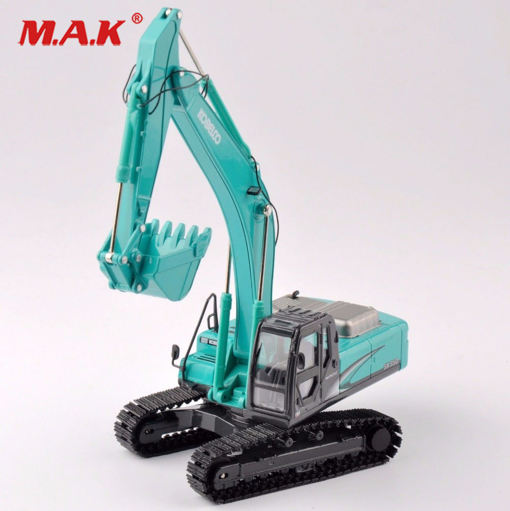 collection diecast 1/50 scale SK-350 light blue diecast excavator truck car vehicles toy model