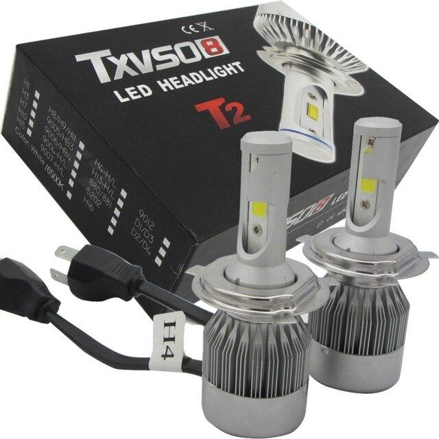 2X lichten 55 W 4600LM H4 Chipy led verlichting Auto LED lights beam ...