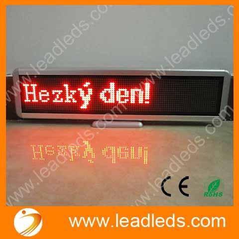 Frete grátis 12 v LED carro de exibição de entrada USB recarregável LEVOU sinal do carro LEVOU Sinal Mensagem Programável Pixel 16*96 VERMELHO