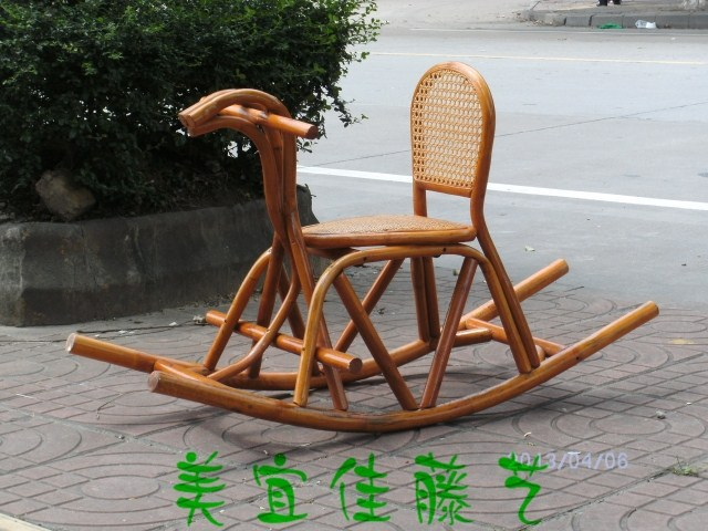 children rocking chairs butterfly chair covers walmart horse rattan child coffee table basket wicker kit